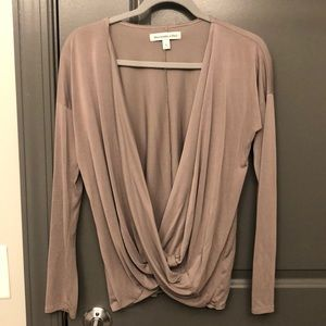 Deep v long sleeve shirt